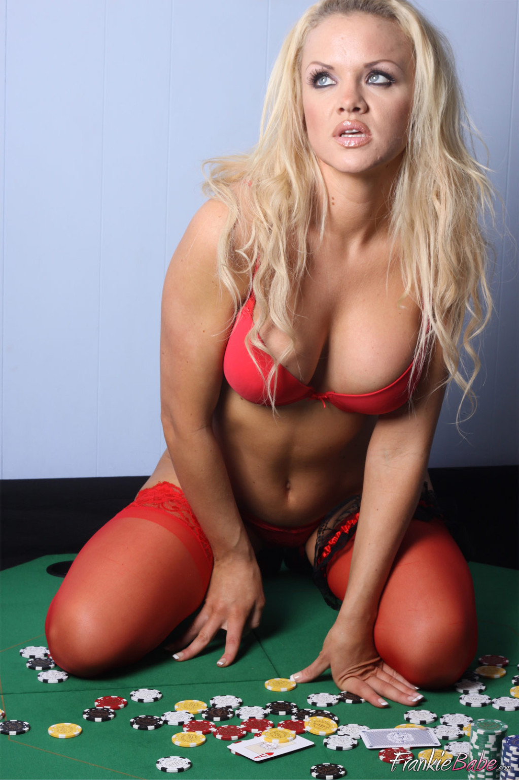 Who fancies a game of get undressed poker dirty sticky golden-haired frankiebabe is ready to peter out