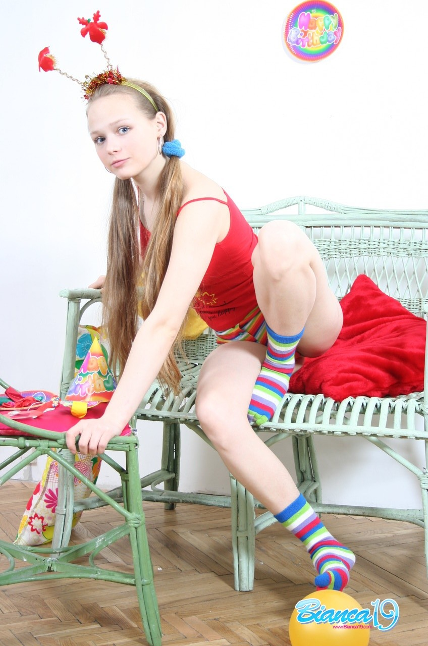 Fabulous young year old teen goofing around