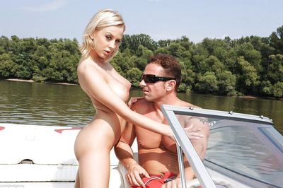 Busty European infant Mandy I taking hardcore anal fucking action outdoors overhead boat