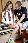 Slippy schoolgirl is much larger in number interested in hard anal smoking than lessons