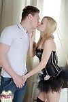 Hardcore anal with a golden-haired teen Cherry Angel in high heels