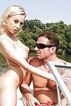 Titsy European juvenile Mandy I winsome hardcore anal sex outdoors on boat