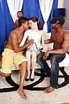 Devote interracial gangbang with stupendous redhead Atlanta