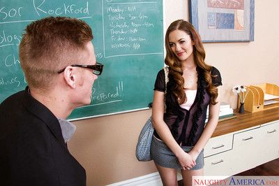 Samantha Hayes give head for say no to teacher and swallow his sperm