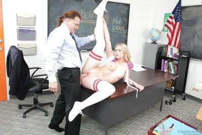 Petite 18 year old blond schoolgirl Dakota James having asshole licked out