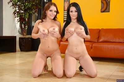 Awesome two girls Katrina and Kayla are two perfect lesbian babes