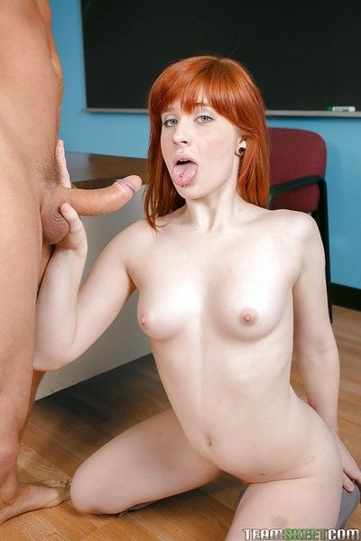 Sadie Kennedy eminent a deepthroat and riding her friend\'s rod