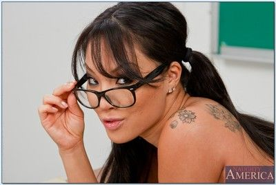 Asian schoolgirl Asa Akira property naked and showing her awesome body