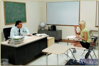 The man college blonde Shawna Lene screwed steadfast by her horny teacher