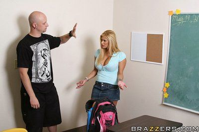 Shyla Stylez gets screwed together with takes a cumshot on her tall breasts