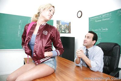 Teeny whore Victoria White wants to make her teacher relaxing