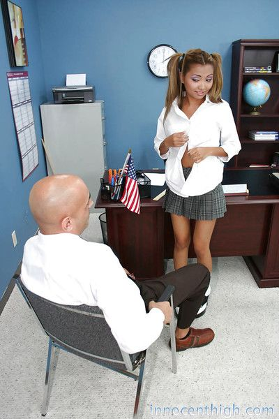 Awesome asian Lana pussy cracked and mouth fucked everywhere the office