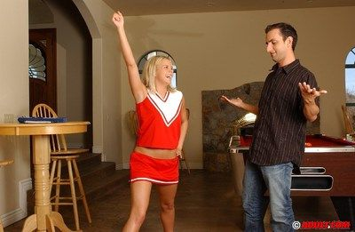 Slutty teen gets fucked increased by tastes some cum at will not hear of cheerleader audition