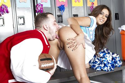Sexy cheerleader Jynx Maze got her ripe latin plunder banged hardcore