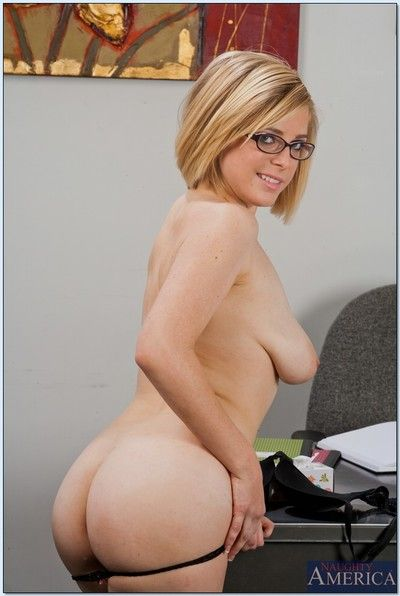 Lusty let slip by in glasses Penny Pax resembling off her petite curves