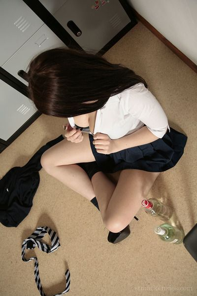 Barely legal brunette schoolgirl Jessica-Ann Fegan getting lush coupled with bare