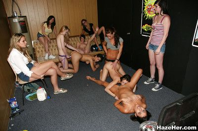 Lesbian orgy party featuring wild sex action with strapon and other toys