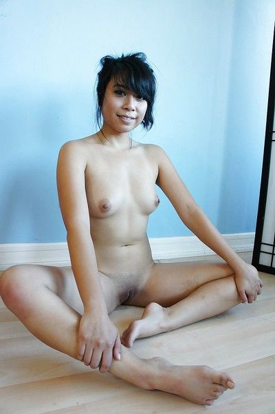 Asian babe brunette May loves to show her aggravation and pussy