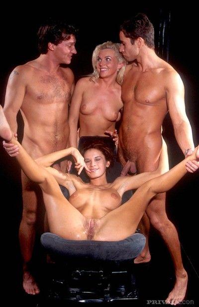 three hot chicks in amazing astronaut alien orgy in uranus