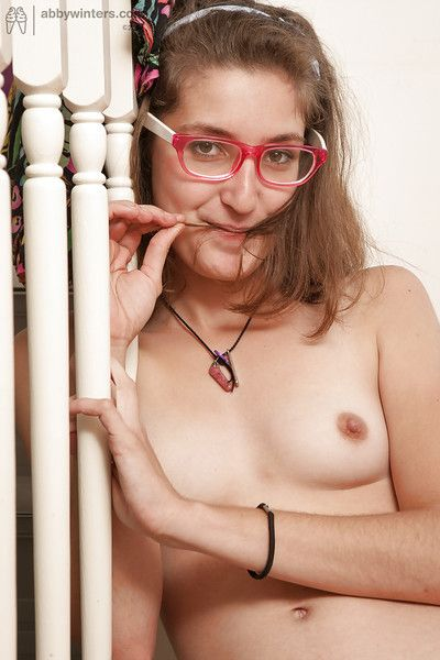 Cute coed Carla B is a tiny instruct spinner not far from pretty give one\'s eye-teeth and glasses