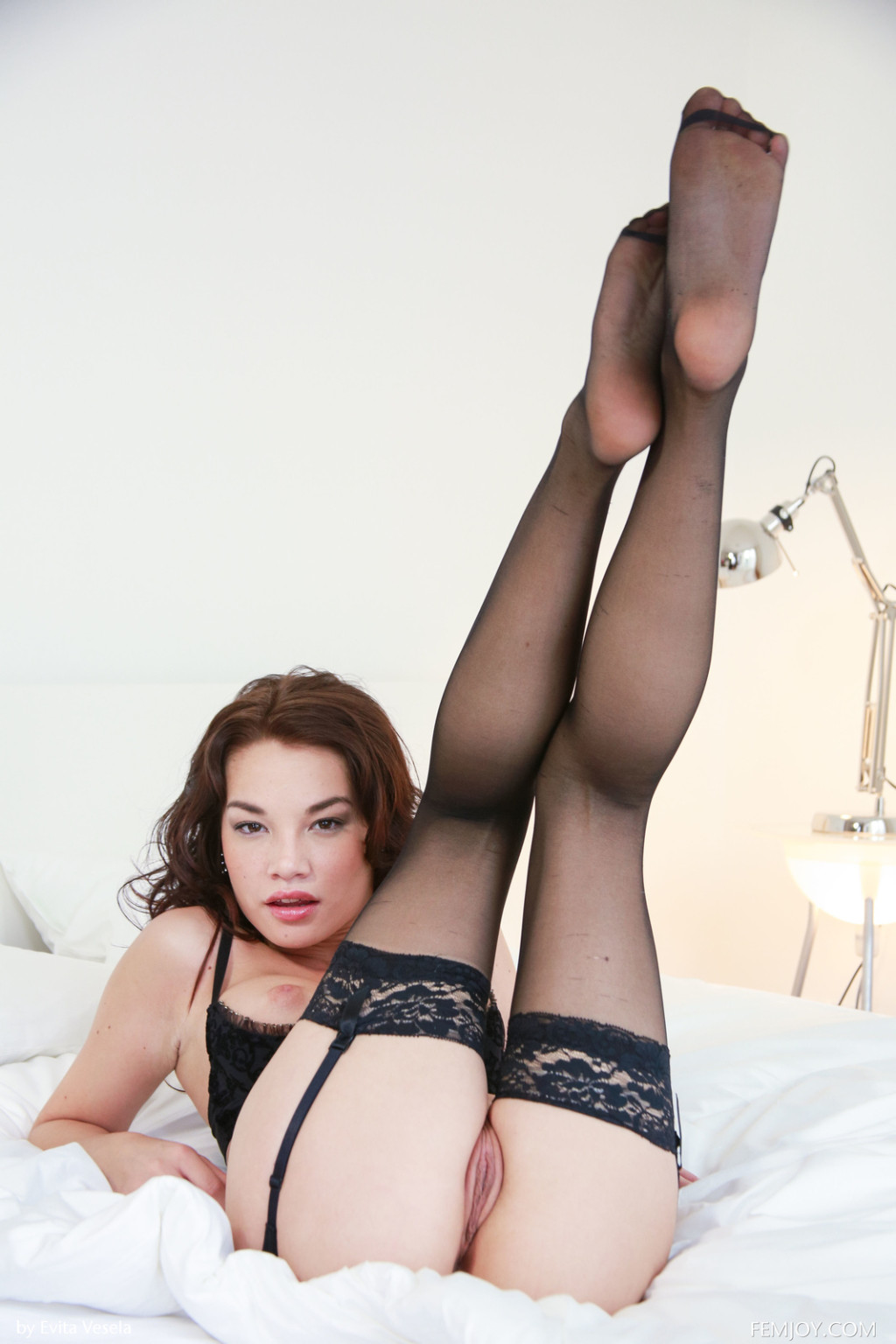 Nici dee from femjoy in stockings and suspenders