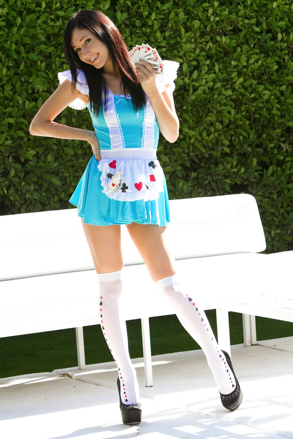 Catie minx in cosplay as a nasty adult baby alice in wonderland