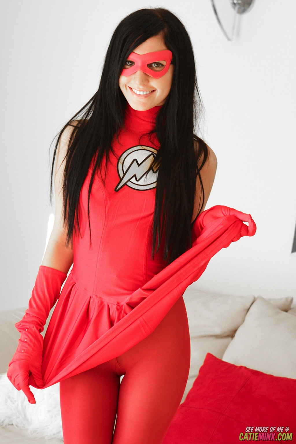 Catie minx young nerd covered up as the moment in cosplay
