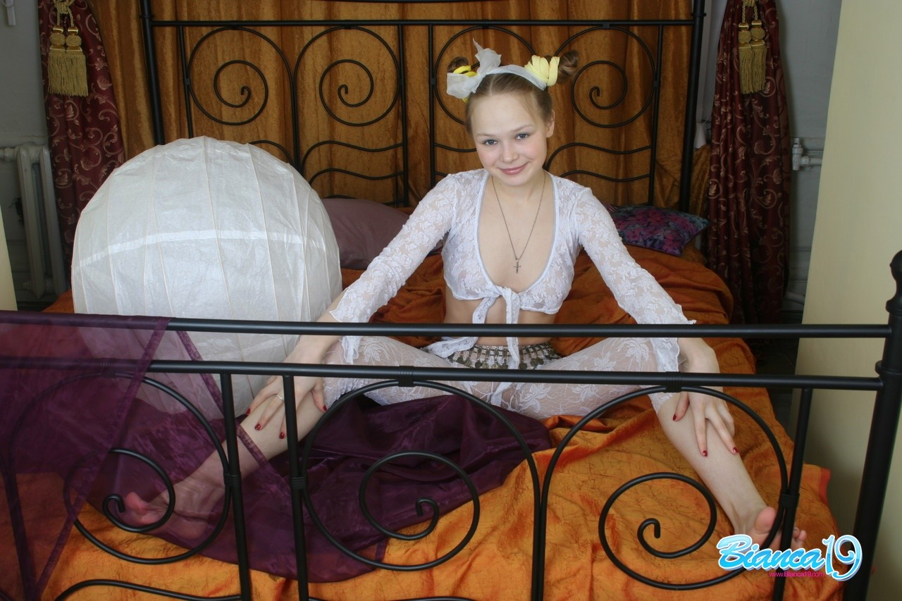 Nice-looking young year old in lace underware