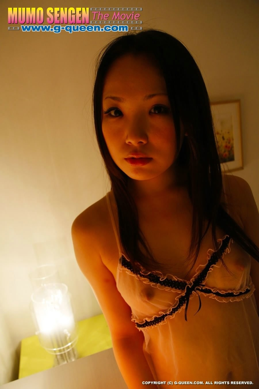 Teen japanese hairless darling aiko mizusoe playing with dick