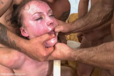 Russian cutie polly sunshine gets fucked by five older guys