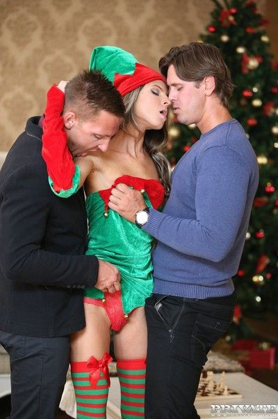 Undernourished teen gina gerson gets dp be required of christmas