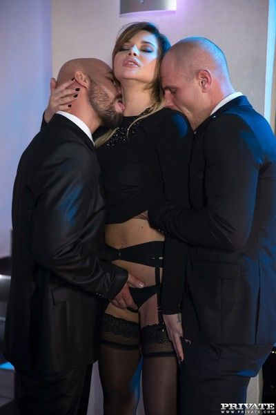 Seem like dp be expeditious for perky russian whore anna polina in threesome sex pi
