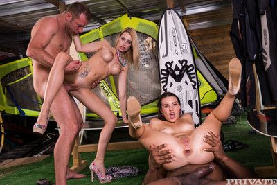 Hardcore orgy approximately both of their boyfriends