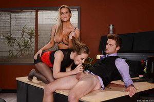 Place sluts Abbey Brooks and Jillian Janson acquire indecorous buttholes poked