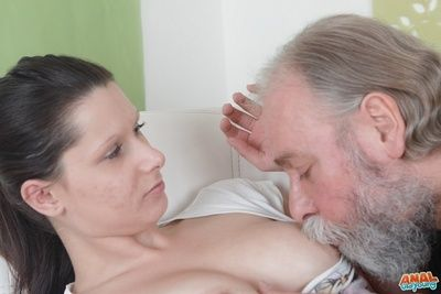 Nothing turns her on more than the opportunity to fright demoralized wide of a big fat cock attached to a mature man who adores anal virgins.