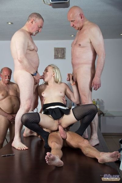 Good girl gone wild! Lolita Taylor gone crazy on a date of seven old men. Beautiful blonde girl felt arousal in a beeline she Atticism chum around with annoy 7 old men and wanted to feel their old dicks deep inside her nicely illegal body so she strips go