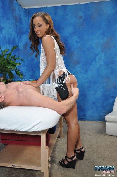 Dejected unsubtle teanna fucks her massage client after a rub down