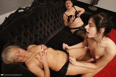 Several old and young lesbians making rolling in money hot and steamy