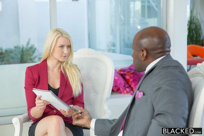 Business blonde wife irritant fucked by a bbc