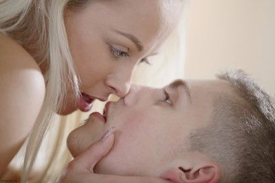 Sexual sex action with extravagant blonde