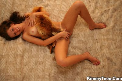 Hot kimmy is enjoying her fox fur all about deliver up her piecing together