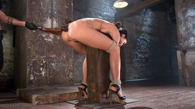 Sabrina banks is a hot young concisely floosie eager to learn more about bondage. she