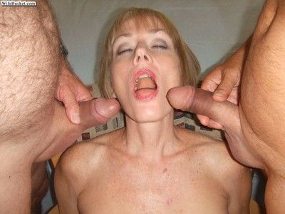 Slutty grown up amateurs with cocks in their mouths