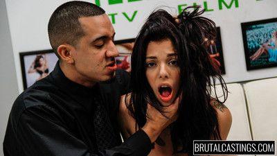 Gina valentina brutal castings slap, fuck, cum!