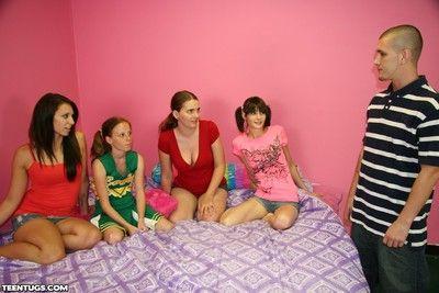 Alyssa hart and her friends milking guys flannel