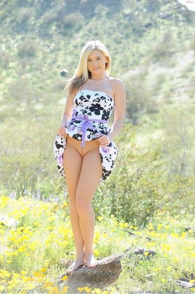 Astronomical gorgeous blonde alison angel divest