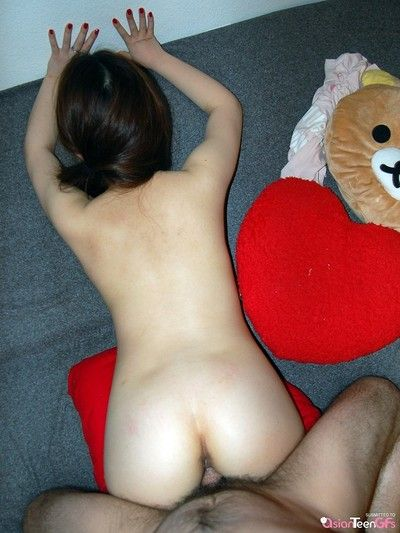 Slutty teen girlfriend gets fucked with reference to nice ass