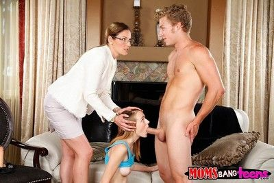 Teen girl losed by her go steady with increased by step mom