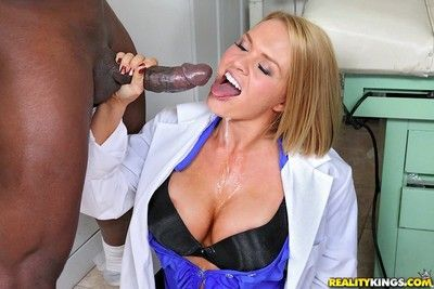 Sexy nurses shagging in depraved interracial orgy