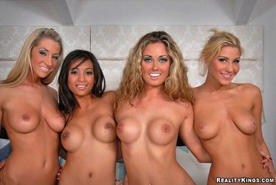 A handful of girls, eight chest with the addition of lots of dildo fucking with the addition of sucking